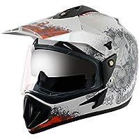 Off Road D/V Gangster White Orange Helmet-M