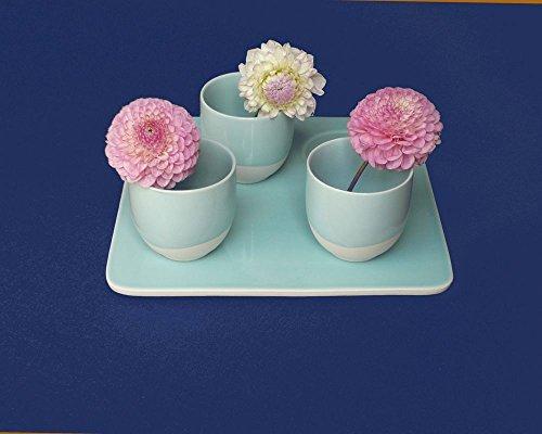 Fleur de soleil Nappe Unis Bleu Marine Coton Enduit 160x240