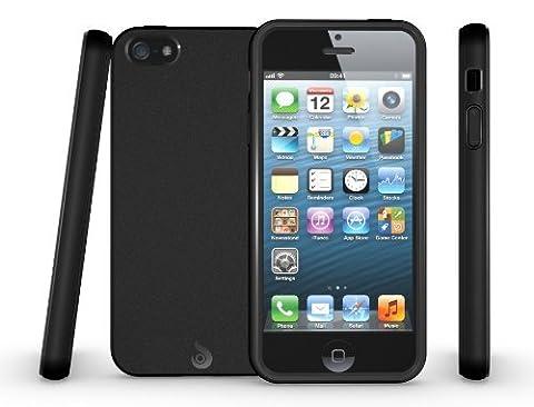 iPhone 5S Case / iPhone SE Case, Diztronic Matte Back Black Flexible TPU Case for Apple iPhone 5 / 5S / SE - Retail Packaging