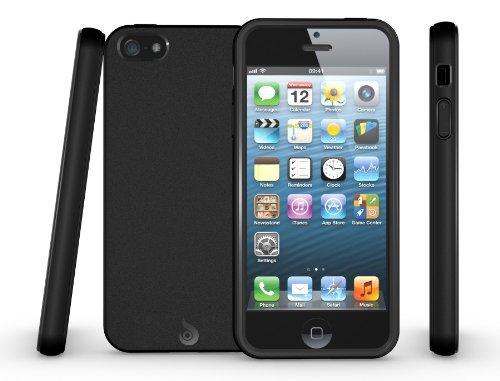 iPhone SE Hülle, Diztronic Matt TPU Tasche Schutzhülle Case Cover für Apple iPhone 5 / 5s / SE (Matt-Schwarz)