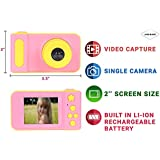 Jicson J98 Kids Digital Camera Mini 2 Inch Screen Children Camera 1080 HD Digital Camera Toys Camera for Girls Birthday Gift- Pink…