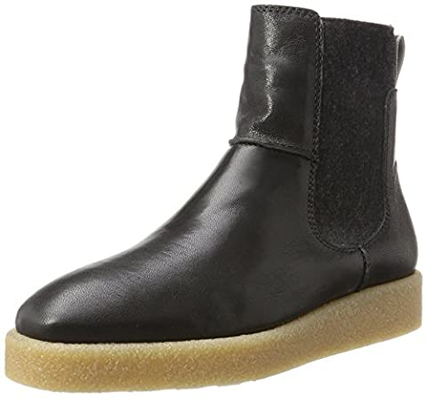 Marc O'Polo Flat Heel 70914295001127, Chelsea Boots Femme, Schwarz (Black), 36 EU