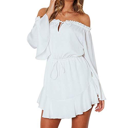 Damen Ärmellos Druck Strandkleid Minikleid Sommerkleid Tunikakleid Strandtunika Beachwear S-XXL