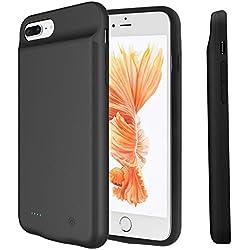 Coque Batterie pour iPhone 8 Plus/7 Plus, PEYOU 4000mAh Chargeur Portable Batterie Boîtier de Batterie Ultra-léger Protection Externe Rechargeable Power Bank pour iPhone 8 Plus/7 Plus(5.5 Pouces)