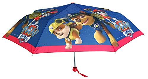 Marshall Frühling (Paw Patrol Chase, Marshall und Rubble Kinder Taschen-Regenschirm Blau)