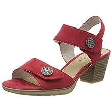 Jana 100% comfort 8-8-28308-24, Sandales Bride Cheville Femme, Rouge 500, 40 EU Weit