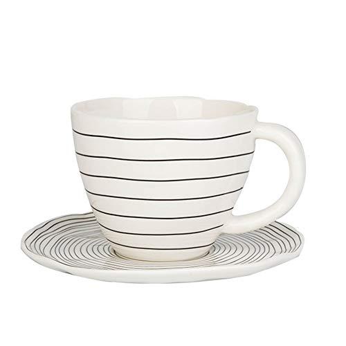 Kaffeekanne Kaffeebereiter Wasserkessel Kaffee Topf Isolierkanne Teekanne Espressokocher Keramik Retro Kaffeetasse Hohe Kapazität Wasserkocher Büro GAOFENG (Kaffee-topf-tray)