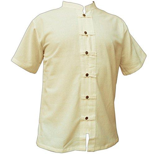 Fisher-Shirt RZI-01, naturwhite, XL, shortsl. (Koch-hemd)