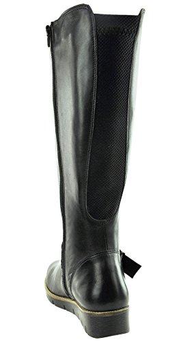 JJ Footwear Damen Schuh Leder Gifford Normal Schwarz Nappa