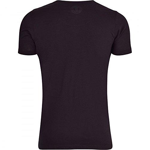 Crosshatch Herren T-Shirt Schwarz