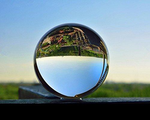 Glaskugel (Preup K9 Klar Kristallkugel Glaskugel Wahrsagerkugel Dekokugel, Kristallkugel Fotografenqualitaet, für Feng Shui/Wahrsagung oder Hochzeit/Hause/Büro Dekoration- 80 mm)