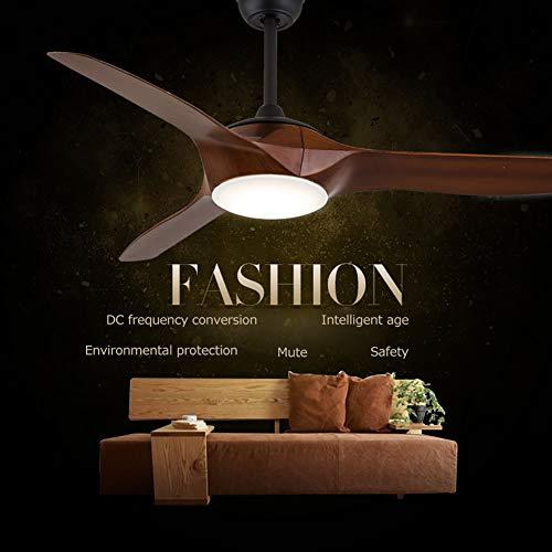 Vinmin Deckenventilator für Unterputzmontage, Traditional Concept LED Bronze Lüfter für Unterputzmontage 3 Kunststofflüfter + Beleuchtung, mit Inversion Braun 52 Zoll - Bronze-lüfter