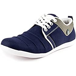 Freedom Daisy Men's Blue Canvas Sneakers (9)
