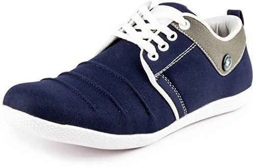 Freedom Daisy Men's Canvas Casual Shoes Sneaker (8, BLUE)