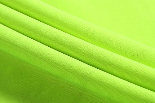 jeansian Herren Sportswear Quick Dry Short Sleeve T-Shirt LSL133 GreenYellow