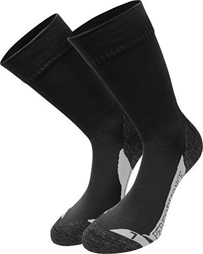 3 Paar Allround Sport - Wander - und Skate-Socken mit Spezialpolsterung Farbe Schwarz Größe 47-50