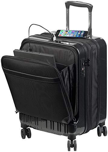 Xcase Koffer: Handgepäck-Trolley mit Dehnfalte, Powerbank-Anschluss, TSA, 34/39 l (Koffer TSA)