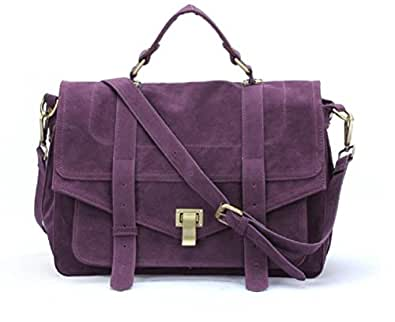 Gossip Girl Vintage X body Satchel Messenger Bag ---(Amazon Shopping Guide: Always Choose a UK seller, Free Postage, Free Return, NO lengthy wait, NO import duty cost)--- (Purple-2)