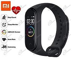 Idea Regalo - Xiaomi Mi Band 4 Activity Tracker,Monitor attività,Monitor frequenza cardiaca Monitoraggio Fitness, Bracciale Smartwatch con Schermo AMOLED a Colori 0,95, con iOS e Android (Versione Globale)
