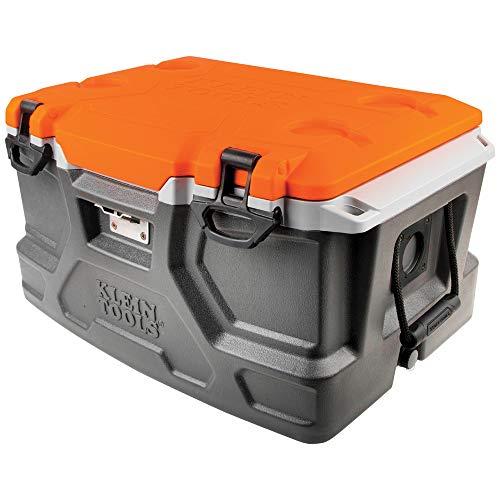 Klein Tools 55650 Cooler Tough Box, 48 Quart Tradesman Pro Jobsite Ice Chest - Side-mount-tool-box