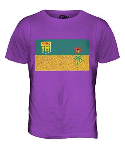 CandyMix Saskatchewan Kritzelte Flagge Herren T Shirt Violett