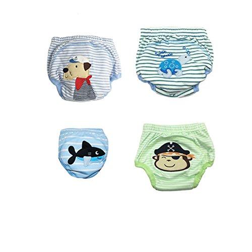 CuteOn Packung mit 4 Baby Toilette Potty Training Pants für Jungen-Mädchen-Kind-Kind Junge 24 Monate