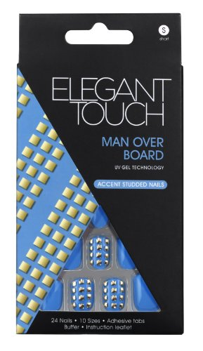 Elegant Touch Trend Adorned Nails, Man Over Board/ Blue