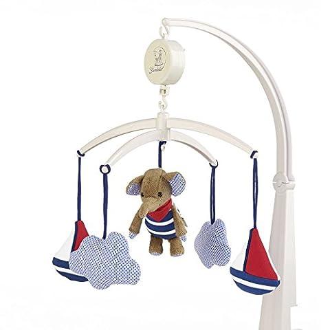 Sterntaler 6101730 Musik Mobile Elefant Erwin inkl. Aufhängung und Dreh Spieluhr mit Melodiewahl (Melodie Mary had a little lamb)