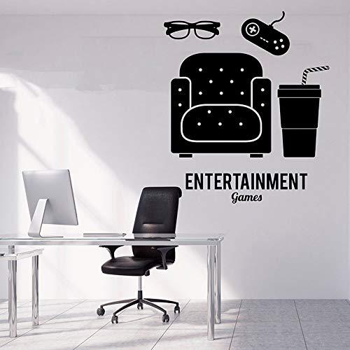zqyjhkou Gamer Wall Decal Gamer Decalcomanie Controller Decalcomanie Personalizzate Gamer Room Playstation Vinile Adesivo Gioco Boy Room Decor A11-046 49X57CM