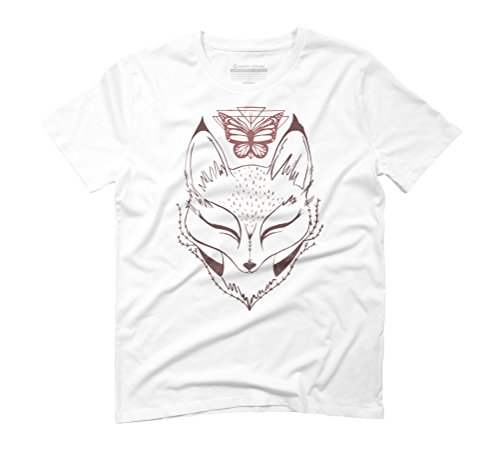 Foxy Butterfly Men's Graphic T-Shirt - Design By Humans White