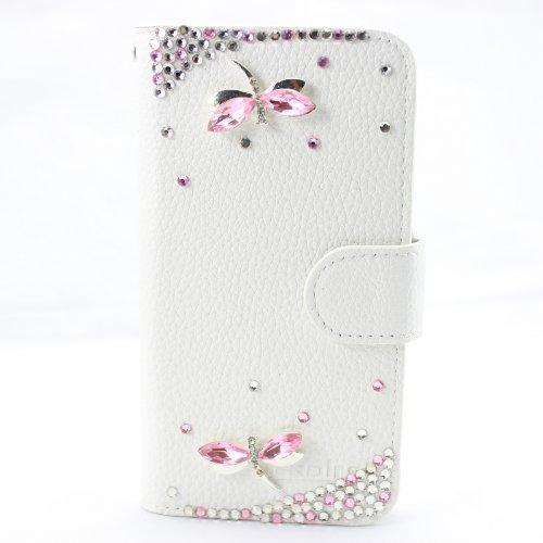 Samsung Galaxy S2 T989 T-Mobile Hülle, CaseFirst Luxus Diamant Dekor Handyhülle Stoßfest Brieftasche Lederhülle Magnet Cover Anti-kratzer PU Leather Wallet Case mit Karte Slots (Galaxy S2 T989 T-Mobile) (Tmobile Samsung Galaxy S2 Case)