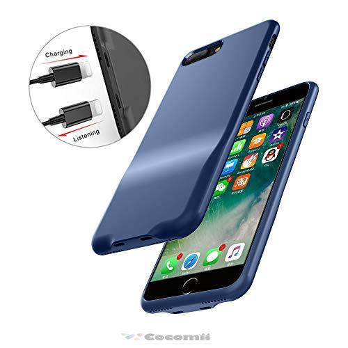 Cocomii Duo Lightning Audio Armor iPhone 8 Plus/7 Plus Hülle NEU [Dual Lightning Jack Adapter Hülle] Anruf+Audio+Ladegerät Laden Und Musik Hören Case Schutzhülle for iPhone 8 Plus/7 Plus (Duo.Blue) Duo Shield Armor Case