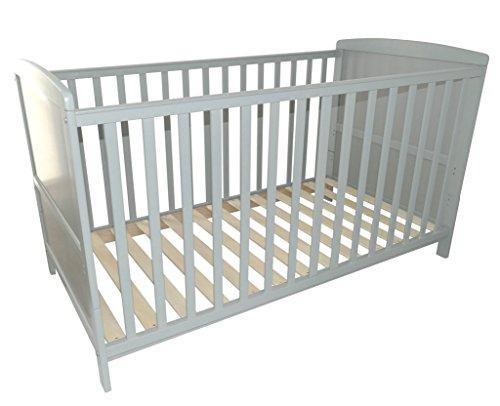 Puckdaddy Babybett 70x140cm grau, auch als Kinderbett nutzbar