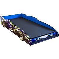 Rennwagenbett Kinderbett 211,5x94x35,5cm blau Spielbett Jugendbett Lattenrost Bett Autobett