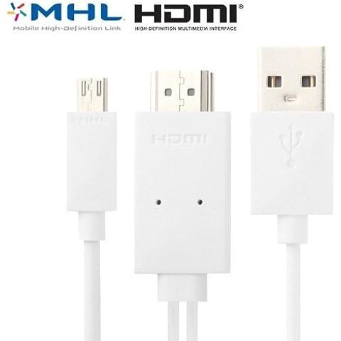 caricabatteria, HD 1080P Micro USB MHL completa di adattatore HDMI
