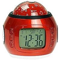 junjunli - Reloj Despertador Luminoso para niños, diseño con Texto en inglés Lazy Multi-función