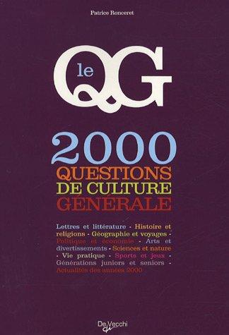 Le QG : 2 000 Questions de culture générale