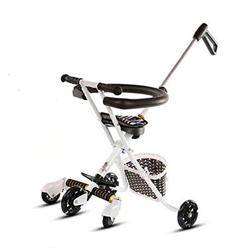 Peixia Department Store Leichter Faltbarer Trolley Carbon Steel + PP Material Weiß/Schwarz Geeignet für Familien mit Kindern. (Farbe : Weiß, größe : A)