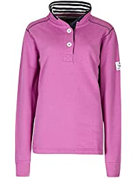 Lazy Jacks Ladies Supersoft Plain Button Neck Sweatshirt