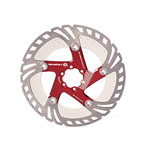EODUDO-S Mountainbike Cooling Schwimmscheibe 160 180 203mm Six Nail, Weitere Stile (Farbe : Rot, Größe : 180MM)