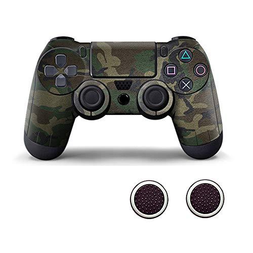 Playstation 4 Controller mit Zwei Daumengriffkappen aus Silikon für PS4 grün camo
