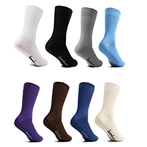 lampox Bambussocken Socken für Damen und Herren (6er Set)