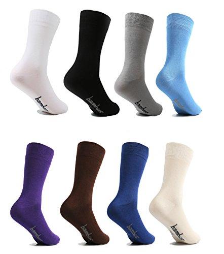 lampox Bambussocken (6x Paar) Atmungsaktiv Socken Business Sport Laufen Reduziert Schweiß (39-42, Schwarz)