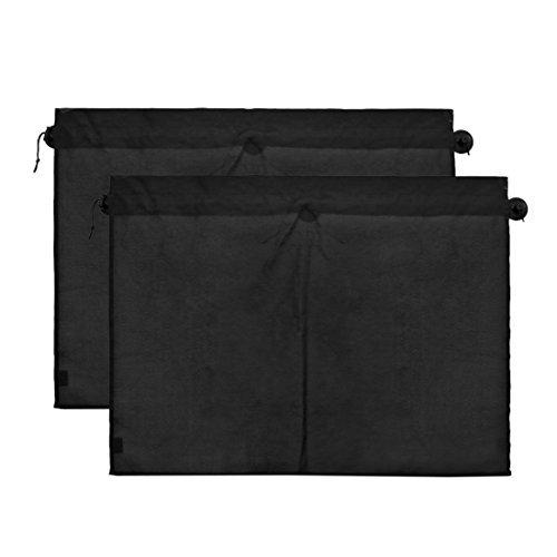 DealMux 2 pcs 70 x 53 cm Pare-soleil auto latéraux Rideau de tissu polyester protection UV