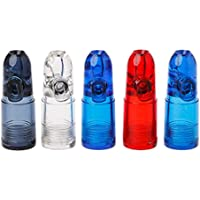 Dabixx Portable Kugel Snuff Dispenser Snorter Rakete Form Acryl Flasche Nasenkasten Farbe nach dem Zufallsprinzip preisvergleich bei billige-tabletten.eu