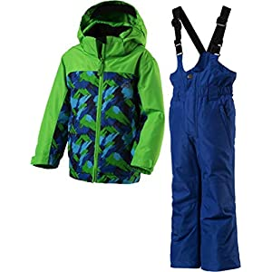McKINLEY Mädchen Schneeanzug Timber + Ray Navy Dark/AOP/Turquoise