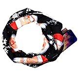 cinnamou Schal Damen Weihnachtsdruck-Schal ReißVerschluss-Taschen-Schals Winter Scarf