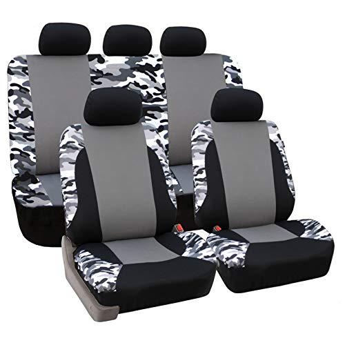 eSituro universal Sitzbezüge für Auto Schonbezug Komplettset schwarz grau SCSC0105