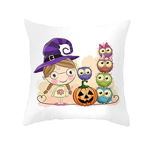 Baby Owl Cute Kostüm - LOLIANNI Halloween Cute Owl Series Kissenbezug Home Decor Sofakissen Taille 45cmx 45cm Kissenbezug