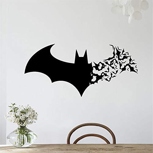 wandaufkleber 3d Wandaufkleber Schlafzimmer Batman Wandtattoo Halloween Batman Serie Wandtattoo Kreativ geschnitzt PVC Wandtattoo PVC